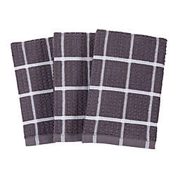 SALT™ All-Purpose Waffle Weave Kitchen Towels in Grey (Set of 3)