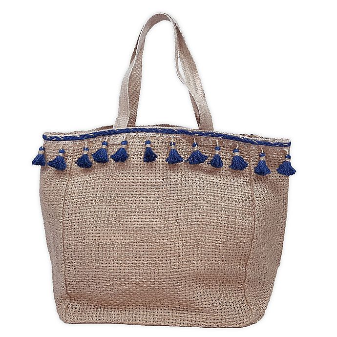 Alternate image 1 for Bee & Willow™ Home Rya Hand Loomed Jute Tote in Natural