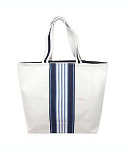 Bolsa One Kings Lane Open House™ de lona con diseño a rayas en blanco/azul