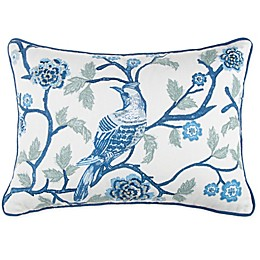 Wamsutta® Jewel Garden Throw Pillow in White/Blue