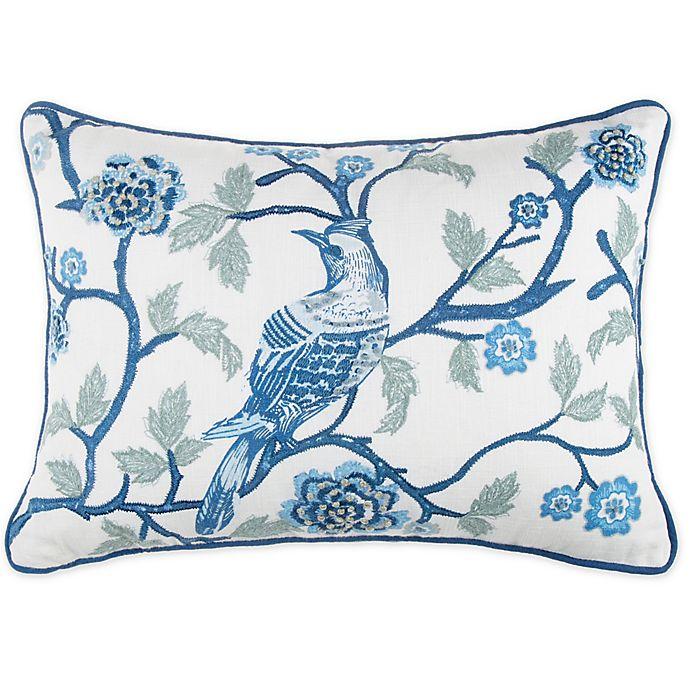 Alternate image 1 for Wamsutta® Jewel Garden Throw Pillow in White/Blue