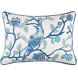 Wamsutta® Jewel Garden Throw Pillow in White/Blue