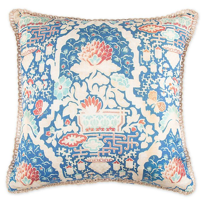 Alternate image 1 for Wamsutta® Paradise Garden Square Throw Pillow in Blue