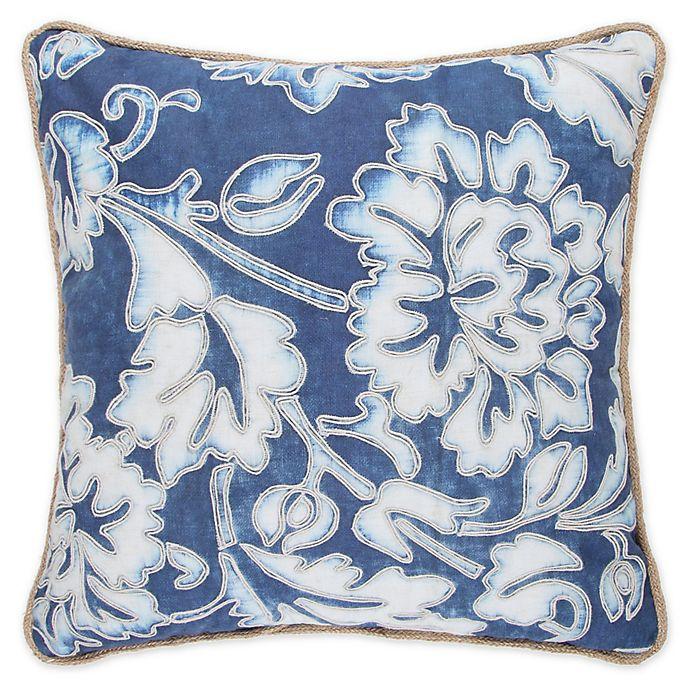 Alternate image 1 for Wamsutta® Indigo Garden Square Throw Pillow in Blue