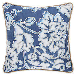 Wamsutta® Indigo Garden Square Throw Pillow in Blue