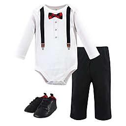 Little Treasure Size 12-18M Lumberjack Bow Tie 3-Piece Long Sleeve Bodysuit, Pant and Shoe Set