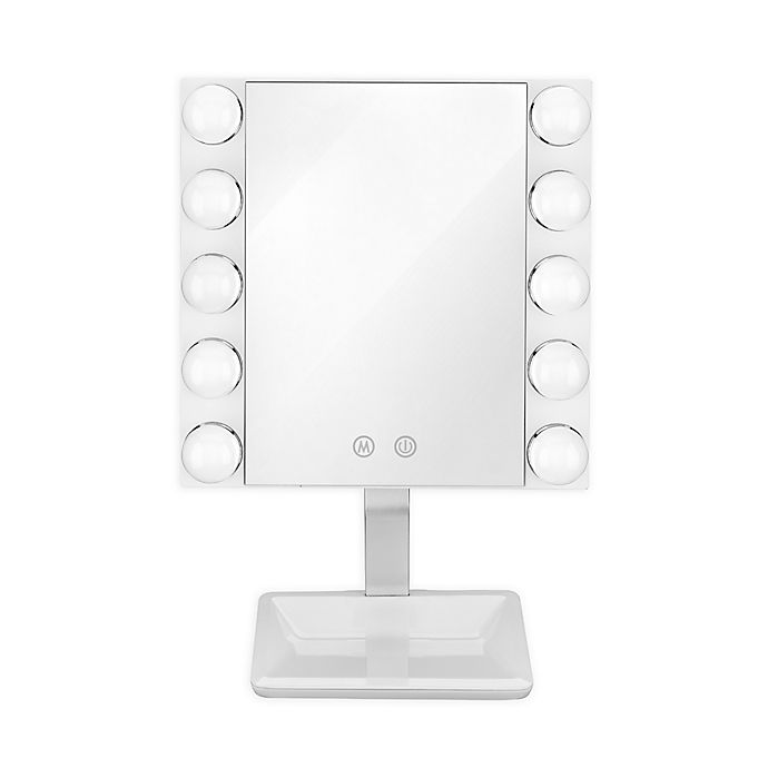 Alternate image 1 for Conair® LED Lighted Vanity Makeup Mirror in White