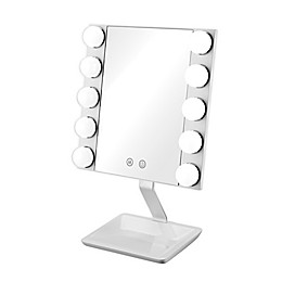 True Glow by Conair® Hollywood Vanity Makeup Mirror in White