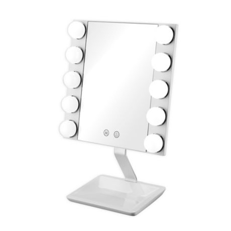 Conair True Glow Hollywood Vanity Makeup Mirror in White