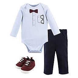 Little Treasure 3-Piece Long-Sleeve Bodysuit, Pant & Shoe Set