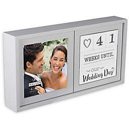 Malden® Wedding Countdown Photo Box in Distressed Grey