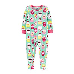 carter's® 1-Piece Cupcake Fleece Footie Pajamas