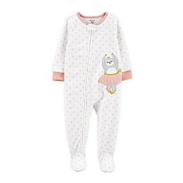 carter's® 1-Piece Ballerina Sloth Fleece Footie Pajamas