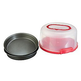 GoodCook Cake Carrier with 2 Round Pans