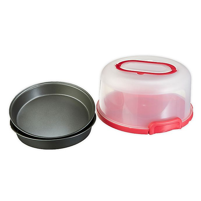 Alternate image 1 for GoodCook Cake Carrier with 2 Round Pans