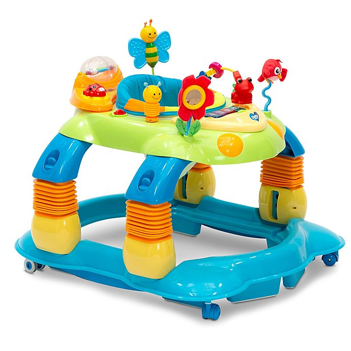 Alternate image 1 for Delta Children Lil' Play Station 4-in-1 Activity Walker in Blue