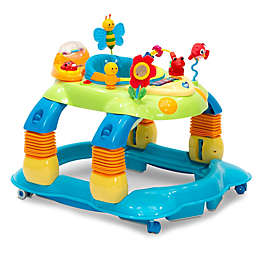Delta Children Lil' Play Station 4-in-1 Activity Walker in Blue