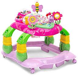 Delta Children Lil' Play Station 4-in-1 Activity Walker in Pink Floral