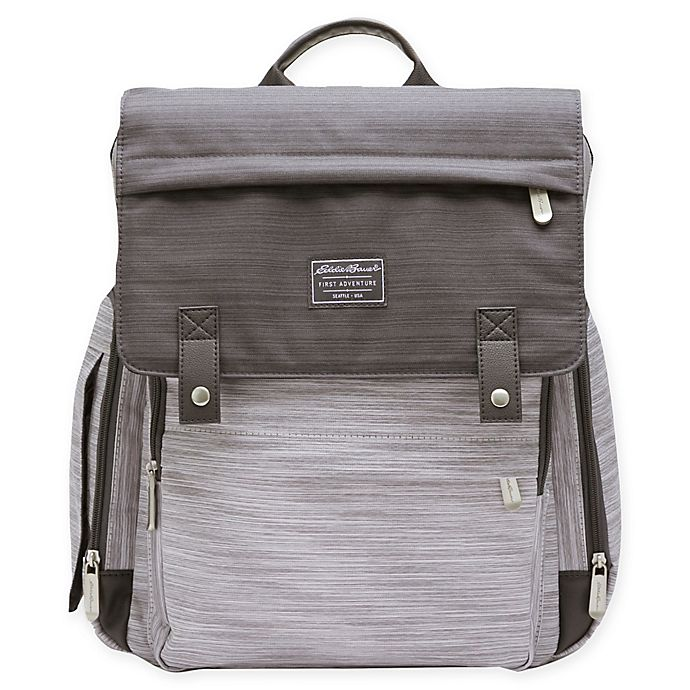 Alternate image 1 for Eddie Bauer® Places & Spaces Ridgeline Diaper Backpack in Grey