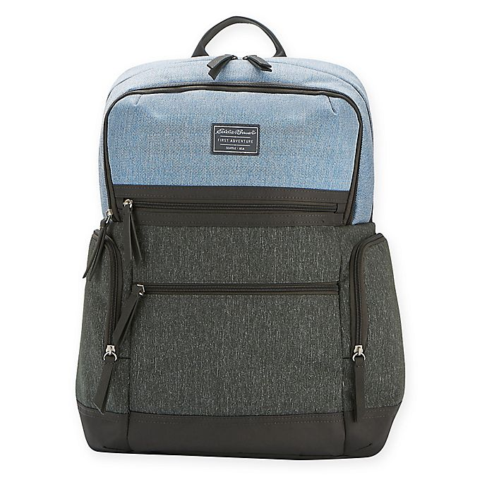 Alternate image 1 for Eddie Bauer® East Sound Diaper Backpack in Grey/Blue