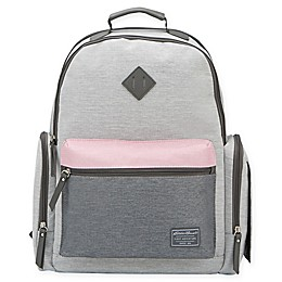 Eddie Bauer® Places & Spaces Fineline Diaper Backpack in Grey/Pink