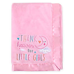"Baby Essentials ""Thank Heaven For Little Girls"" Security Blanket in Pink"