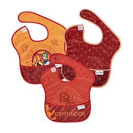 Bumkins® 3-Pack Gryffindor™ SuperBibs in Red/Gold