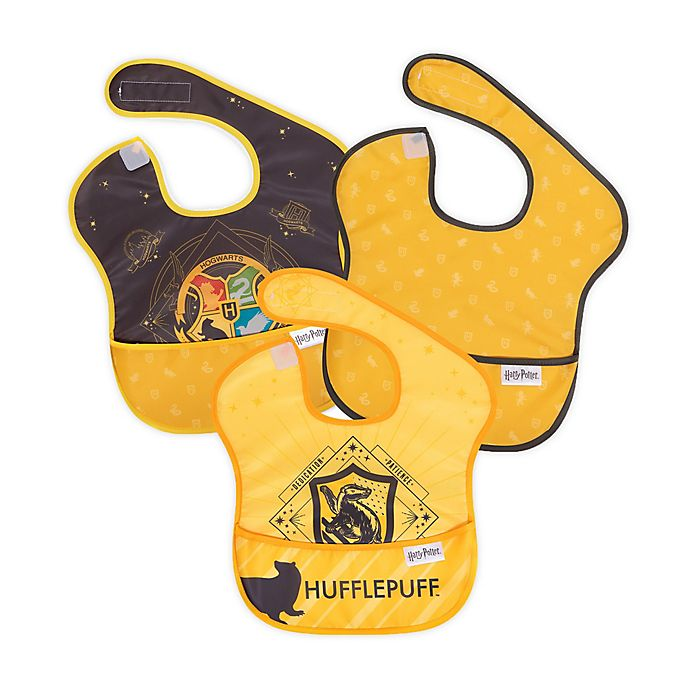 Alternate image 1 for Bumkins® 3-Pack Hufflepuff™ SuperBibs in Yellow/Navy