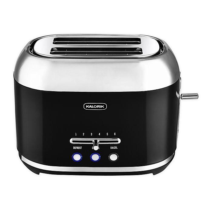 Alternate image 1 for Kalorik Retro 2-Slice Toaster in Black