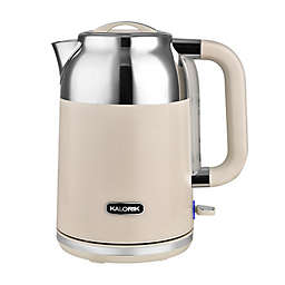 Kalorik 1.7-Liter Retro Electric Kettle in Cream