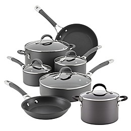 Circulon® Radiance Nonstick Hard-Anodized 10-Piece Cookware Set in Grey