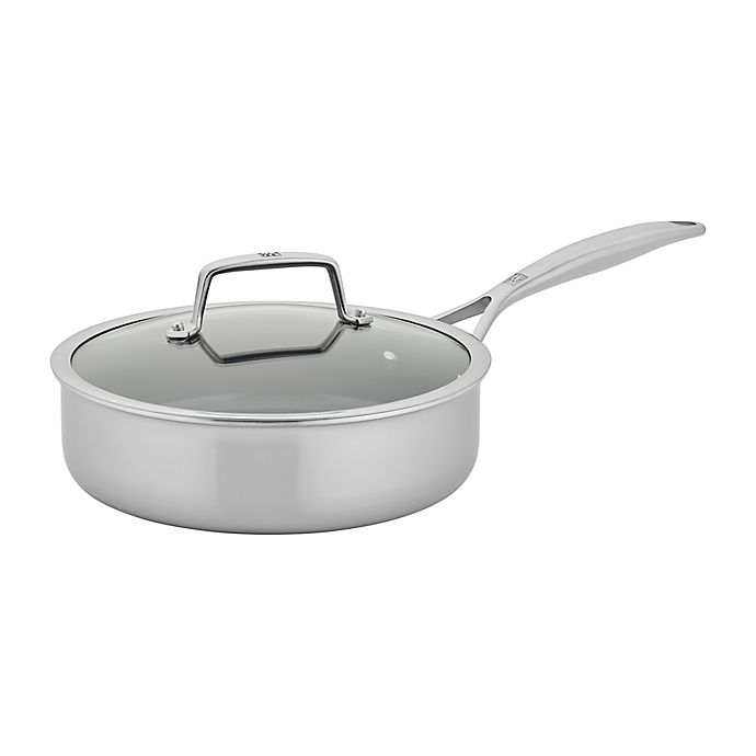 Alternate image 1 for Zwilling® J.A. Henckels Energy Plus Nonstick 3 qt. Stainless Steel Covered Saute Pan