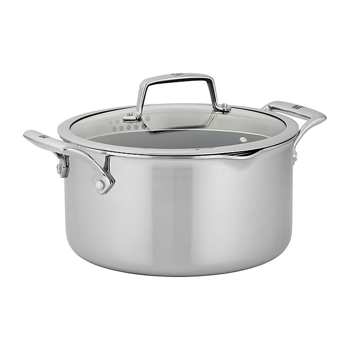 Alternate image 1 for Zwilling® J.A. Henckels Energy Plus Nonstick 6 qt. Stainless Steel Dutch Oven