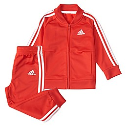 Adidas® 2-Piece Tricot Tracksuit Set in Red