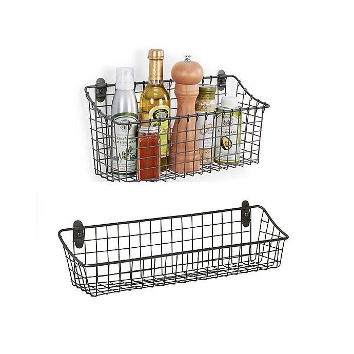 Alternate image 1 for Spectrum® Vintage Cabinet & Wall Mount Basket in Grey