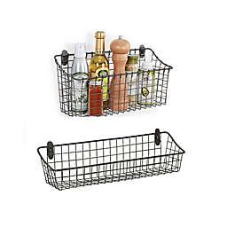 Spectrum® Vintage Cabinet & Wall Mount Basket in Grey