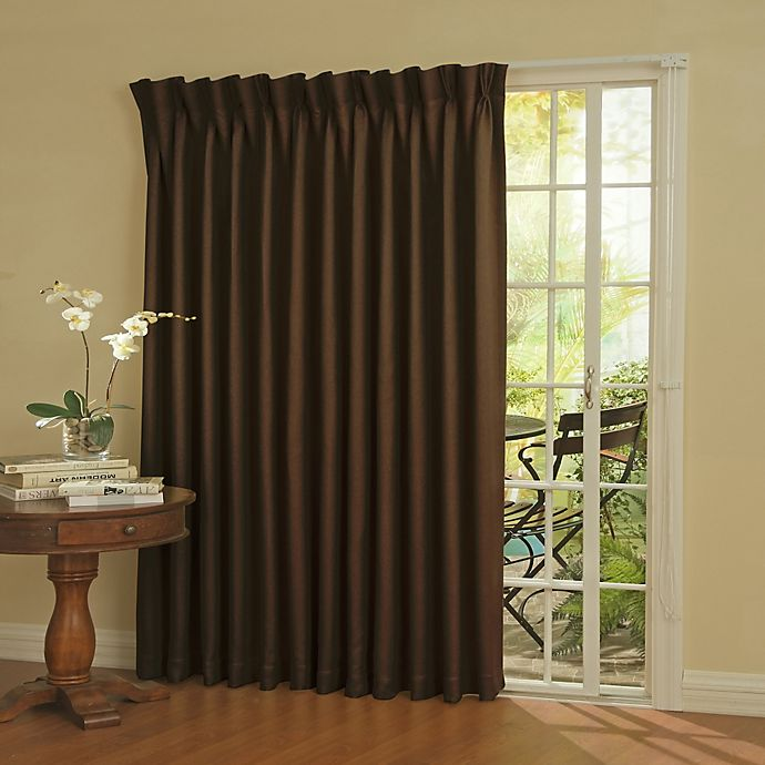 Alternate image 1 for SolarShield® Patio Door Thermal Room Darkening 84-Inch Window Curtain Panel in Espresso