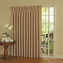 Eclipse Patio Door Thermal Room Darkening 84-Inch Window Curtain Panel in Wheat