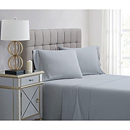 Charisma® Solid 400-Thread-Count Percale Cotton Sheet Set