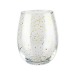 Fifth Avenue Crystal Confetti Gold Stemless Goblets (Set of 4)
