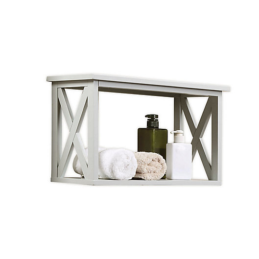 Alternate image 1 for X-Frame Bathroom Wall Shelf