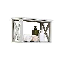 X-Frame Bathroom Wall Shelf in Blue