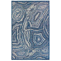 Liora Manné Carmel Agate Indoor/Outdoor Rug in Navy