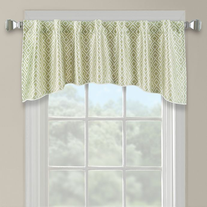 Alternate image 1 for Lancaster Embroidered Arch Scallop Valance