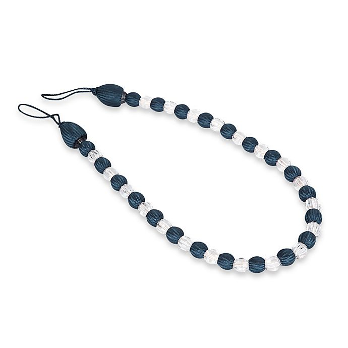 Alternate image 1 for Arlington Rayon Bead with Crystal Bead Tie Back in Navy