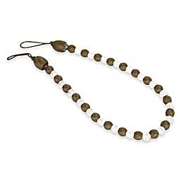 Arlington Rayon Bead with Crystal Bead Tie Back