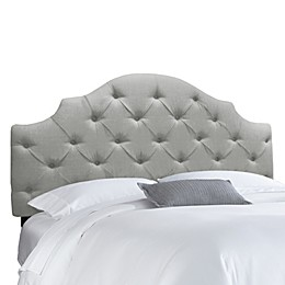Skyline Tufted Notched Headboard in Linen Grey