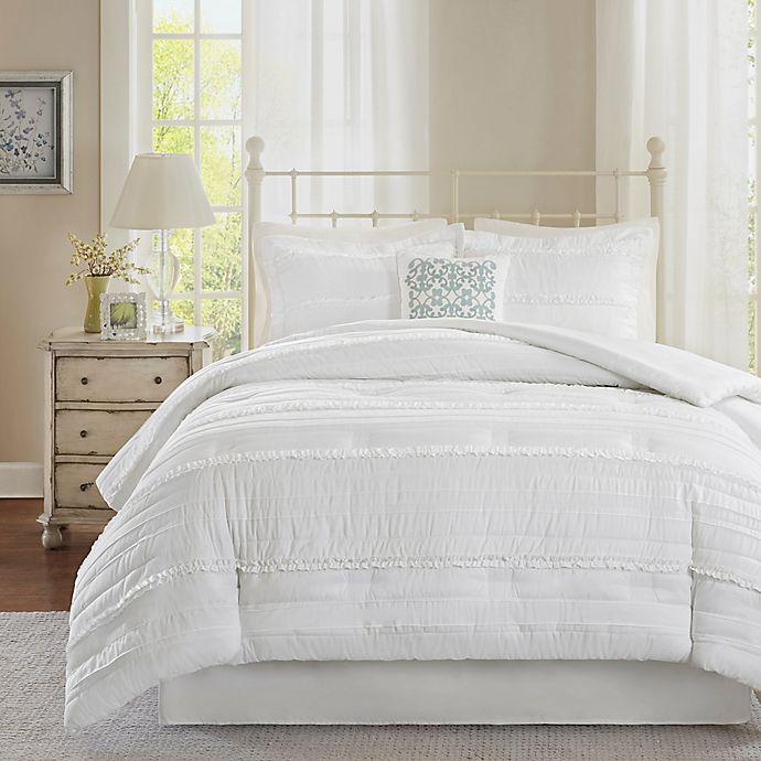 Alternate image 1 for Madison Park Celeste 5-Piece Queen Comforter Set in White