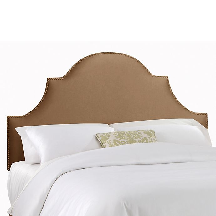 Alternate image 1 for Skyline Furniture Twin Nail Button High Arch Notched Headboard in Shantung Khaki