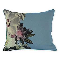 MM Linen Fiori Fifi Oblong Throw Pillow in Blue